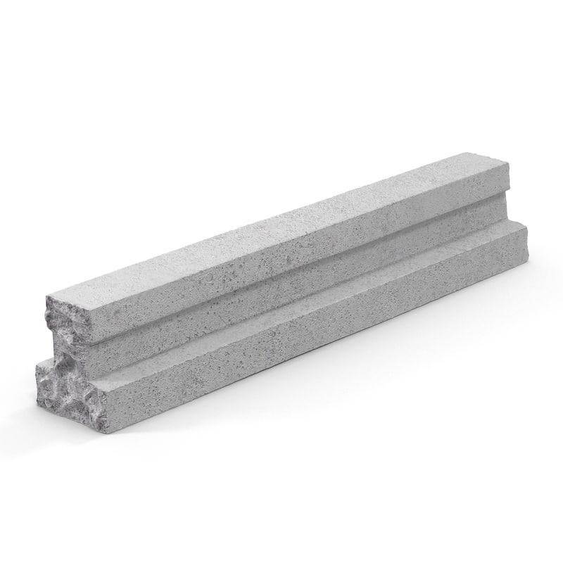 3d model concrete t-beam chunk