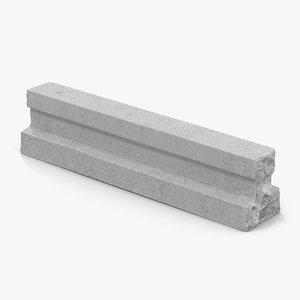 3d model concrete t chunk 2
