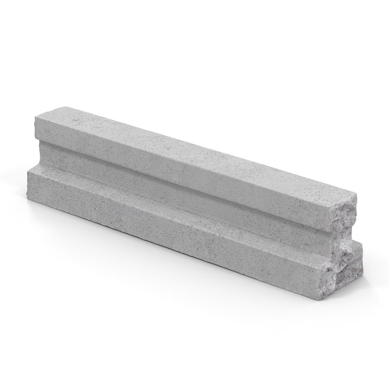 3d model concrete t chunk 2