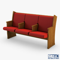 3d max galil chair red