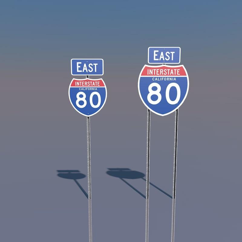 c4d interstate 80 signs california