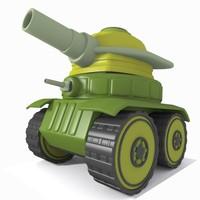 tank toon 3d 3ds