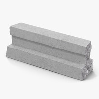 Concrete T-Beam Chunk 3 3D Model