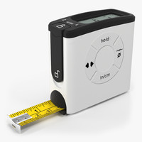 digital tape measure white 3d max