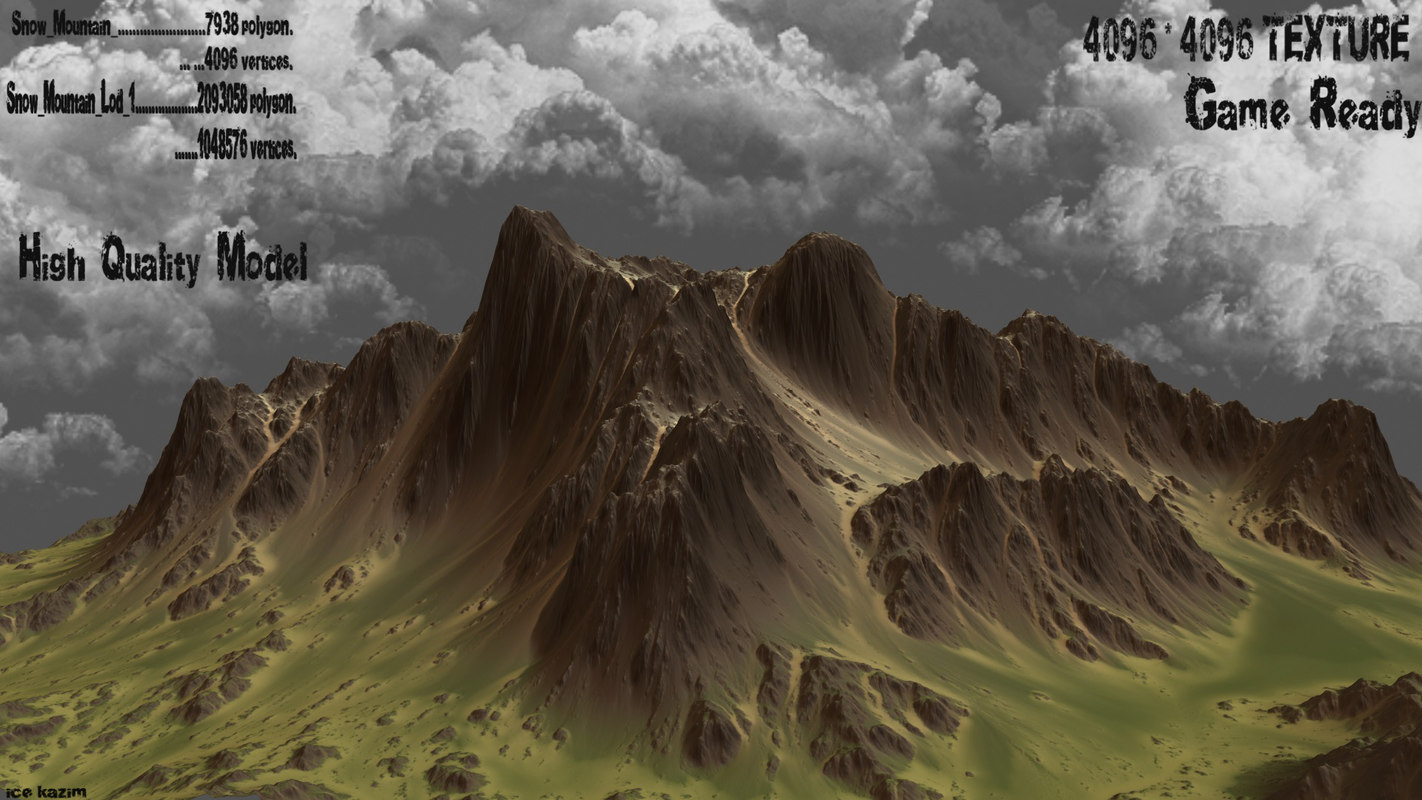 mountain 3d obj