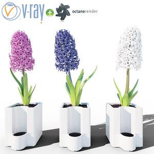 3d model flowers pot