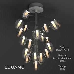 3d model indoor light lugano