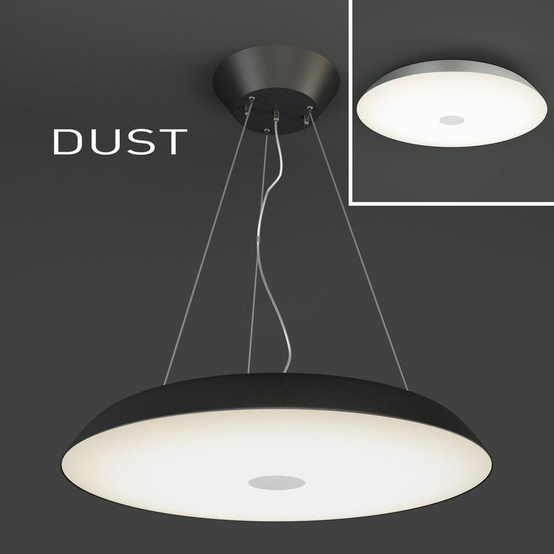 indoor light dust 3d model