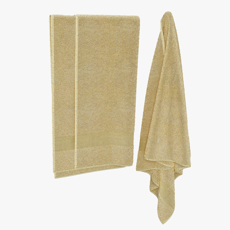 hanging towels 3d model