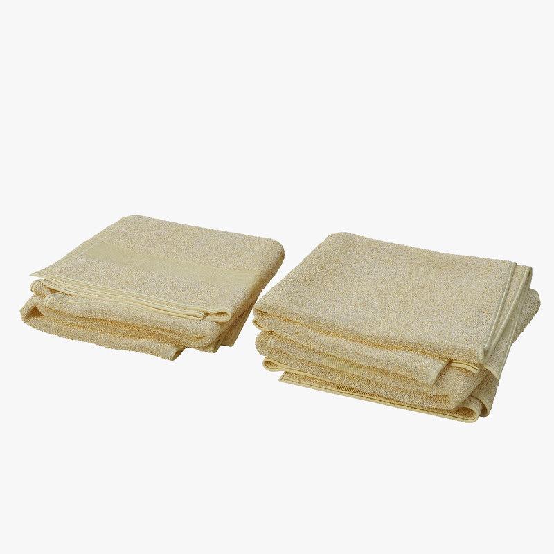 3d model of folded towels