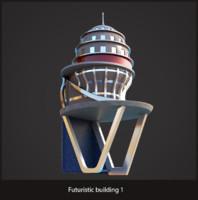 Futuristic sci-fi building 1