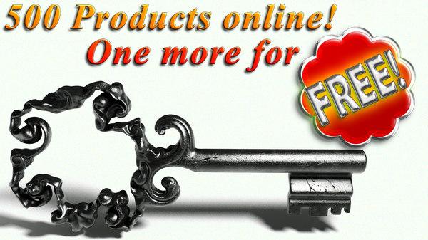 free old key 3d model