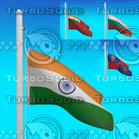 3d model flags india - loop