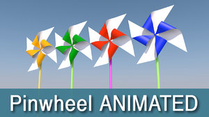 pinwheel 3d model