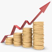 trend arrow coin 3d model