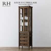 3d model tall bath cabinet louis xvi
