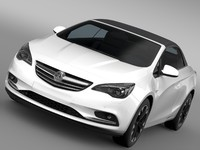 3d vauxhall cascada turbo 2016 model