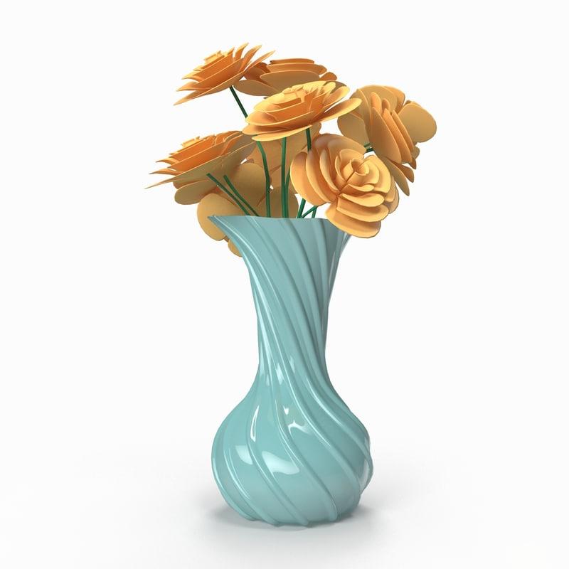 free flower vase 3d model
