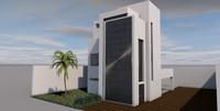c4d modern house