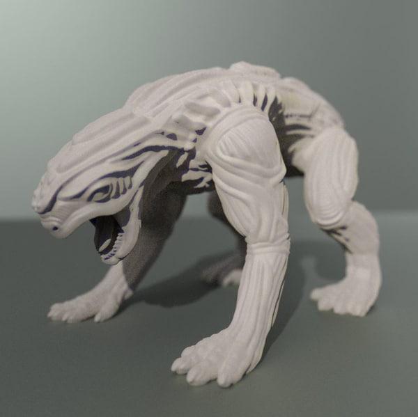 free printable aline animal 3d model