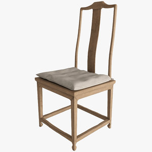 ming dynasty scholar s chair 3d max
