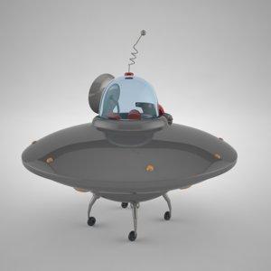 cartoon flying saucer max