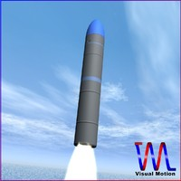 chinese ballistic missile jl-2 3d 3ds