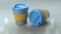 plastic coffee cup 3d obj