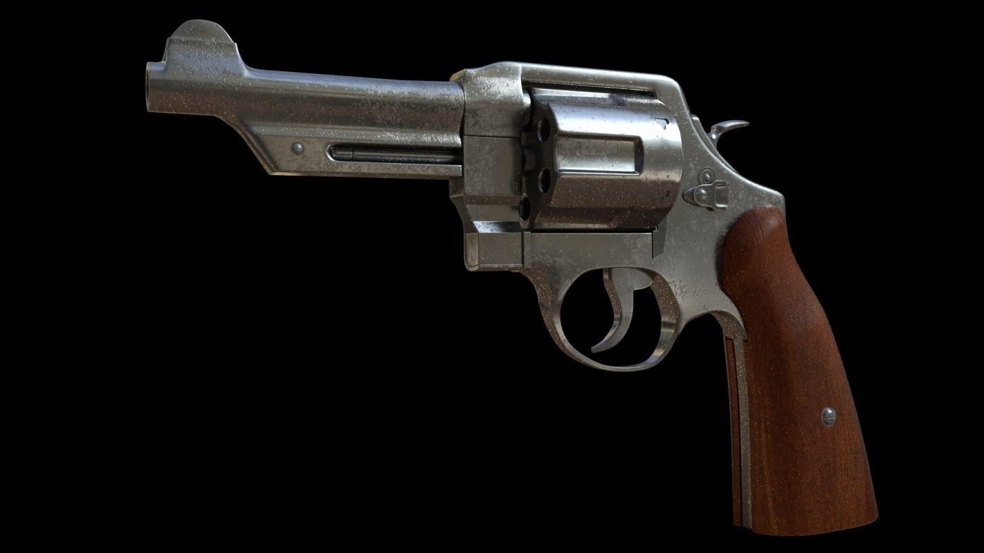 revolver gun 3d 3ds
