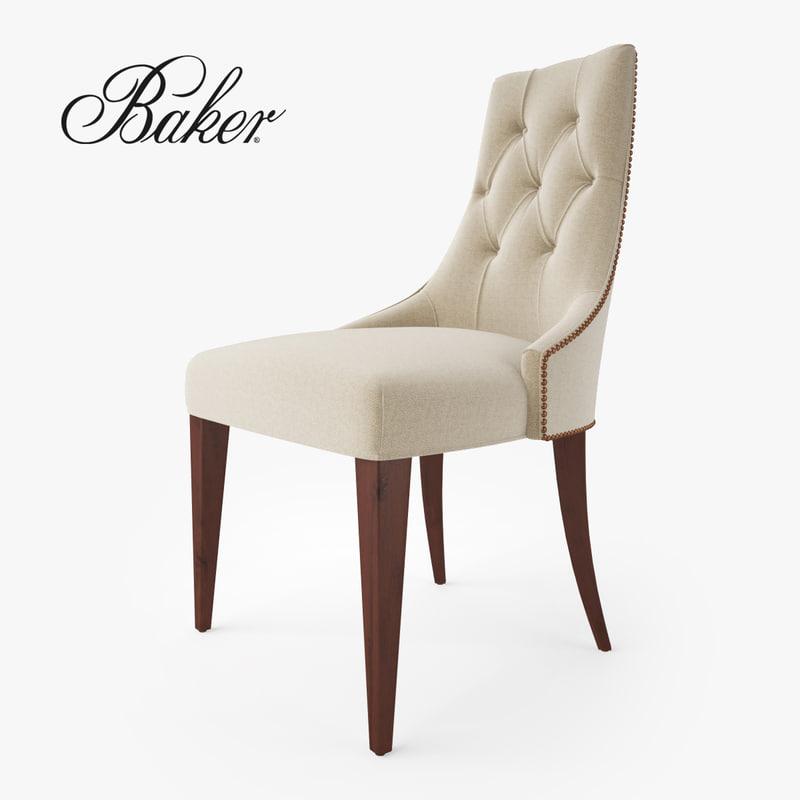 baker furniture ritz dining chair 3d model