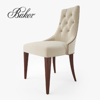 baker furniture ritz dining chair 3d model