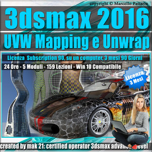 3ds max 2016 UVW Mapping e Unwrap 3 mesi Subscription 1 Computer