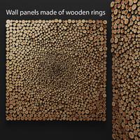 mosaic wood panel 3d model