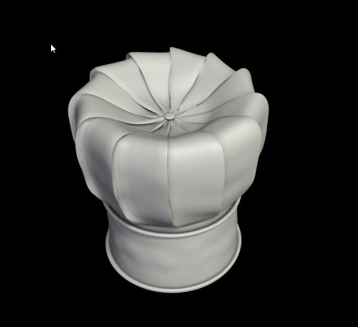 free chefs hat 3d model dd688c6f42ac