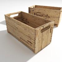 3d max old pepsi crate