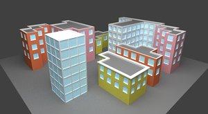 city buildings obj free