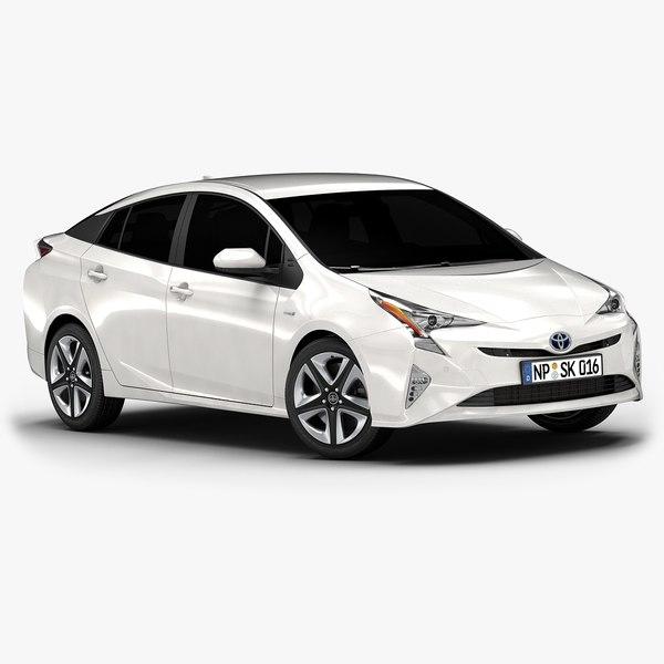 3d model 2016 toyota prius interior