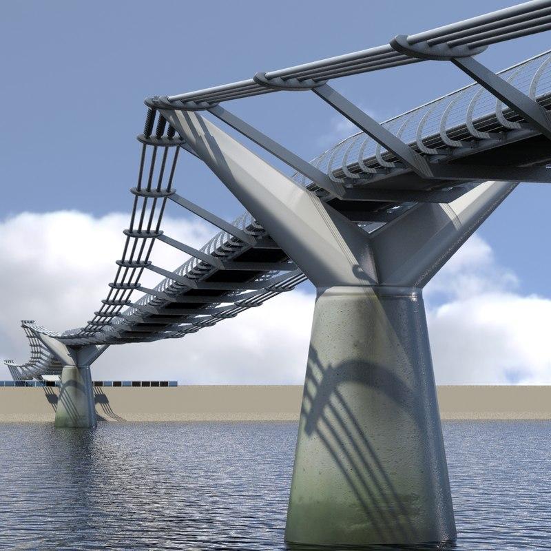 footbridge london millenium bridge max
