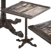 vintage restaurant table square 3d model