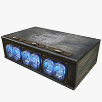nixie clock 3d 3ds