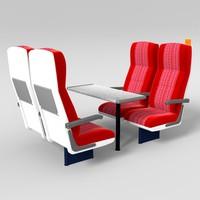 train seat obj