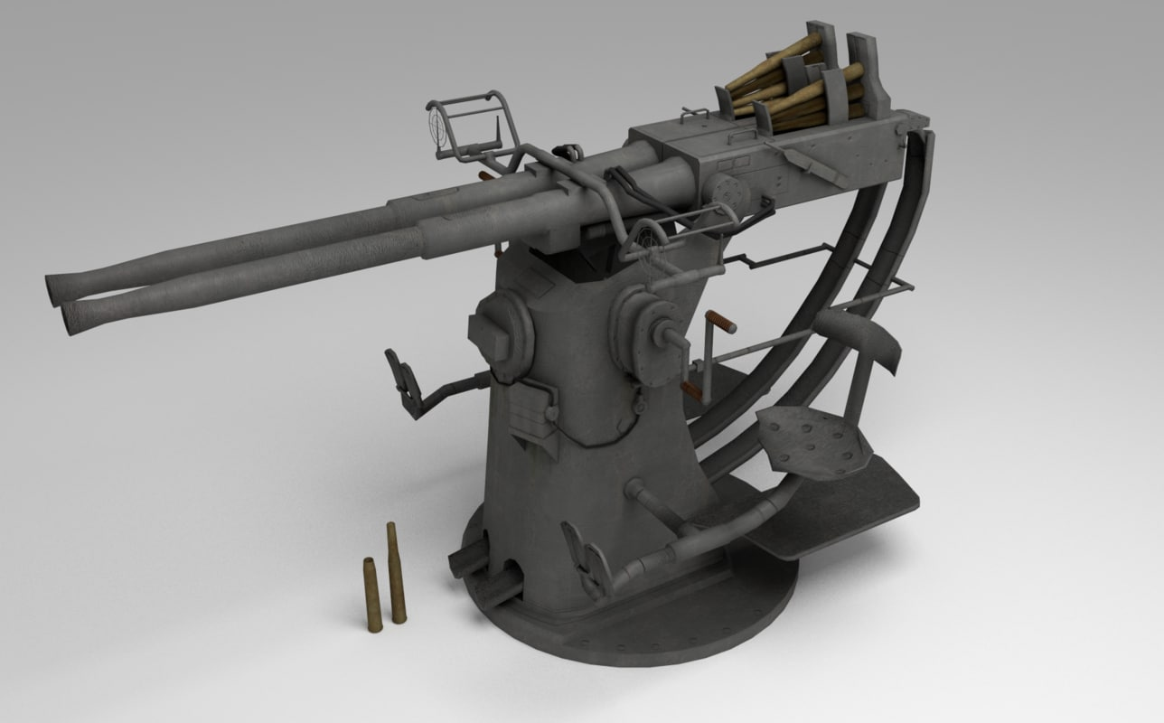 3d twin 40mm bofors