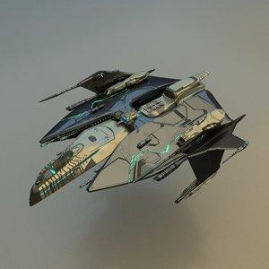 spacecraft fighter 3d model