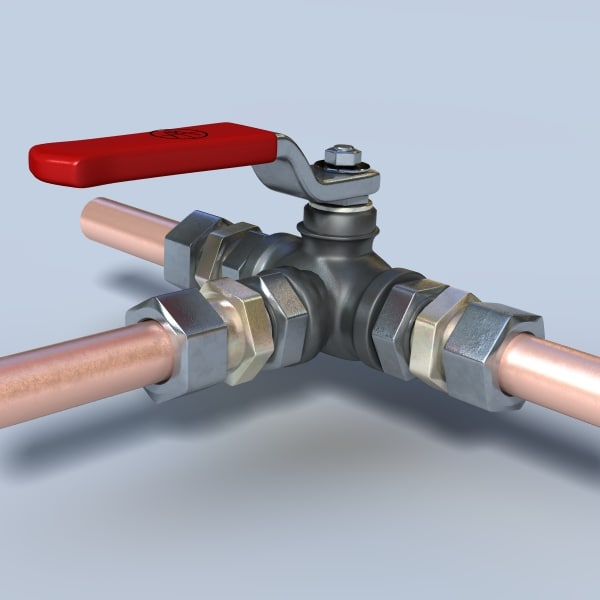 3d model valve
