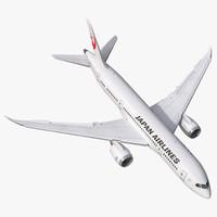 Boeing 787-8 Dreamliner Japan Airlines Rigged 3D Model