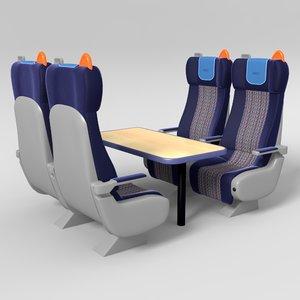 train seat 3d fbx