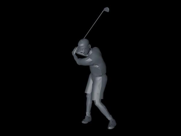 3d basic golfer model
