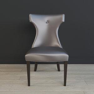 3d wynter armless chair