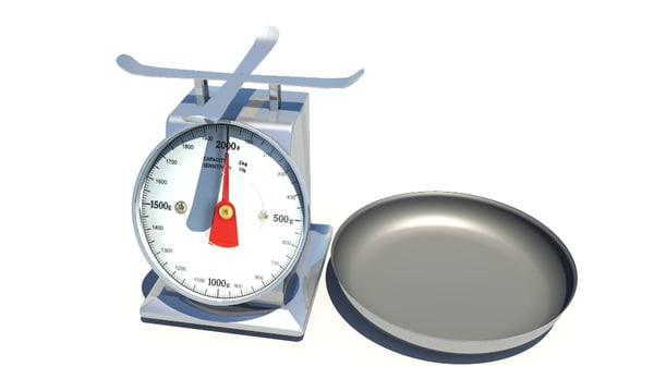 kitchen scale 3d ma