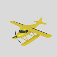 3d model sea aircraft plane